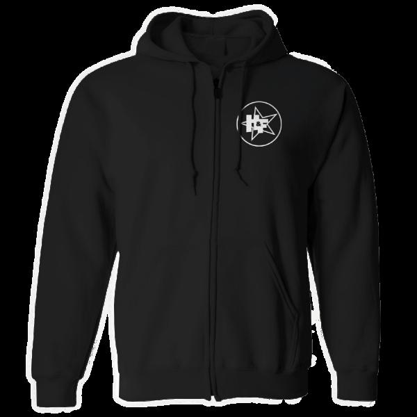 Harris & Ford - Zip-Hoodie - Stern-Kreis Logo [schwarz]