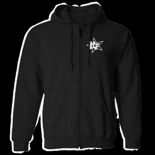 Harris & Ford - Zip-Hoodie - Stern Logo [schwarz]