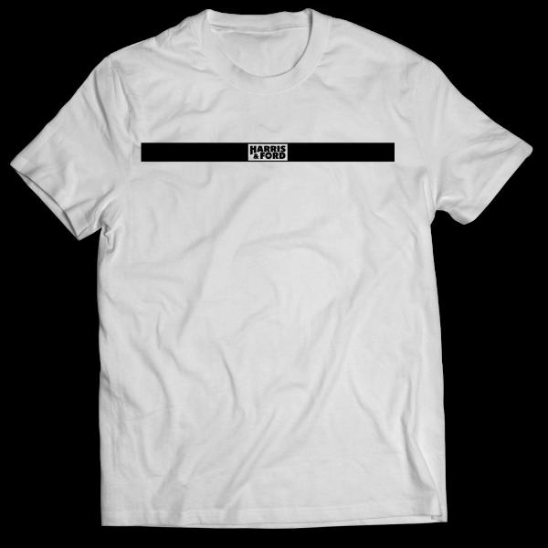 Harris & Ford - T-Shirt - Logo Balken [weiß]
