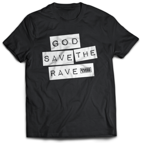 Harris & Ford - T-Shirt - God Save The Rave [schwarz]